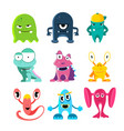 cute cartoon monsters of vector image