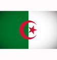 National flag of Algeria vector image