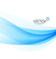 awesome blue wave background design vector image