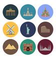 modern landmark icons vector image