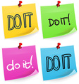 Do It Sticky Note vector image vector image