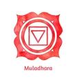 Muladhara chakra vector image