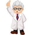 Professor cartoon pointing his hand vector image vector image