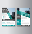 Corporate flyer Leaflet Brochure template set vector image
