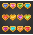 Big set with gem heart vector image
