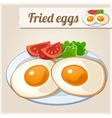 Detailed Icon Fried eggs for breakfast vector image