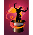 girl dancing vector image