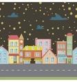 night seamless cartoon town vector image