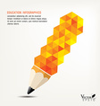 pencil concept infographics for education with vector image
