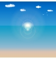 Sea shore background for your design vector image