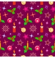 Seamless christmas pattern Winter holiday vector image