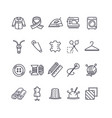 sewing and needlework tool black thin line icon vector image