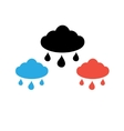 sign cloud with rain vector image