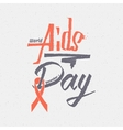 World Aids Day insignia and labels for any use vector image