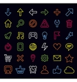technology icons and signs vector image vector image