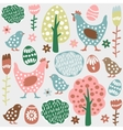 Cute colorful seamless easter spring vector image