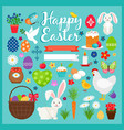 easter colored icons vector image vector image
