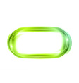Abstract shape white green oval vector image