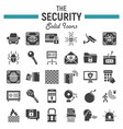 security solid icon set cyber protection signs vector image