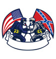 confederate vs union soldier vector image