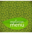 Vegetarian Menu Template vector image