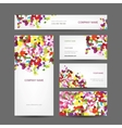 Set of abstract creative business cards design vector image