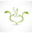 natural food icon vector image vector image