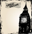 great britain background vector image