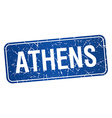 Athens blue stamp isolated on white background vector image