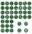 recycle material icons vector image