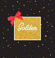 abstract black background with sparkles and gold vector image