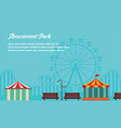 background style amusement park collection vector image