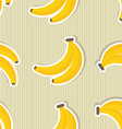 Banana pattern Seamless texture with ripe bananas vector image