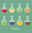chemical icon with background vector image