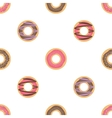 Donut seamless background vector image