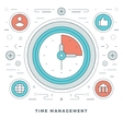 Flat line Business Time Management Concept vector image