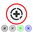 health care diagram rounded icon vector image