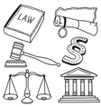 judicial icons vector image