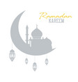 ramadan kareem concept shadow of muslim mosque vector image