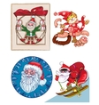 Santa a mix of separate pictures vector image