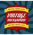 Vintage Background Template vector image