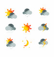 weather icons set in polygonal geometric style vector image
