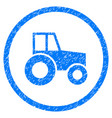 wheeled tractor rounded grainy icon vector image