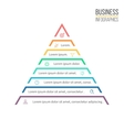 Pyramid triangle with 8 steps levels vector image
