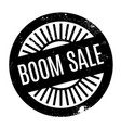 boom sale rubber stamp vector image