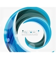 blue swirl line abstract background vector image vector image