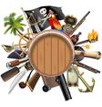 Pirate Concept with Barrel vector image