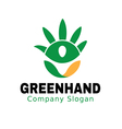 Green Hand Design vector image