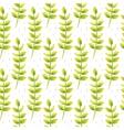 Spring wild flower leaves field seamless pattern vector image