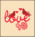 Love message vector image